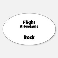 FLIGHT ATTENDANTS Rock Oval Decal
