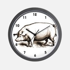 Victorian Pig Wall Clock