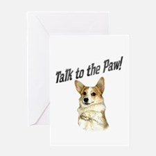 Talk to the Paw! Little Dott Greeting Card