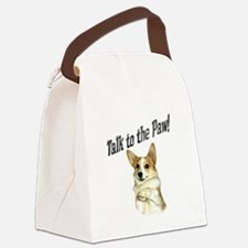 Talk to the Paw! Little Dott Canvas Lunch Bag