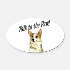 Talk to the Paw! Little Dott Oval Car Magnet