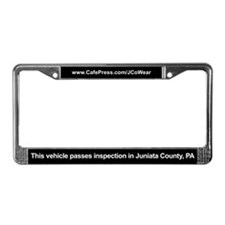 """Passes Inspection"" License Plate Frame"