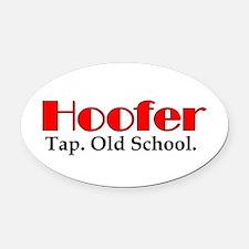 Hoofer Tap Oval Car Magnet