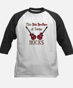 Big Bro Rocks Twins Kids Baseball Jersey
