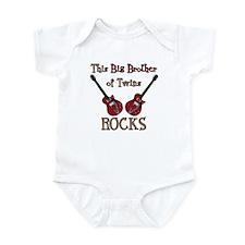 Big Bro Rocks Twins Infant Bodysuit