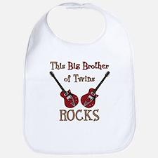 Big Bro Rocks Twins Bib