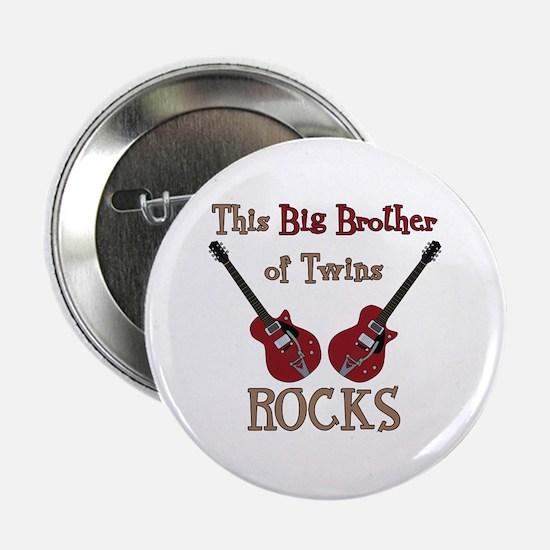 "Big Bro Rocks Twins 2.25"" Button"