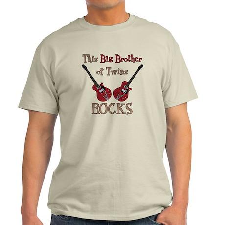 Big Bro Rocks Twins Light T-Shirt