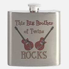 Big Bro Rocks Twins Flask
