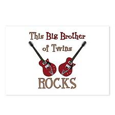 Big Bro Rocks Twins Postcards (Package of 8)