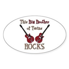 Big Bro Rocks Twins Decal