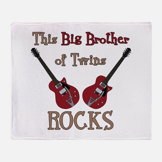 Big Bro Rocks Twins Throw Blanket
