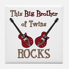 Big Bro Rocks Twins Tile Coaster