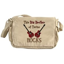 Big Bro Rocks Twins Messenger Bag