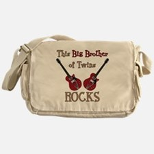 Big Bro Rocks Twins Messenger Bag