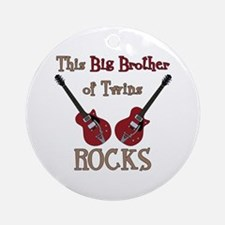 Big Bro Rocks Twins Ornament (Round)