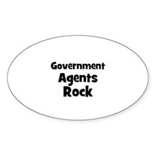 GOVERNMENT AGENTS Rock Oval Decal