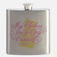 Clothes Not Consent Flask