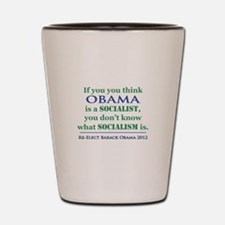 Obama Is No Socialist Shot Glass