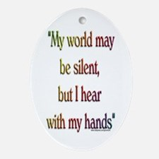 Silent World Oval Ornament