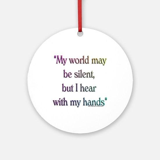 Silent World Ornament (Round)