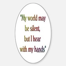 Silent World Oval Decal