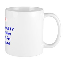 Mug: First transcontinental TV broadcast carried P