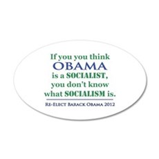 Obama Is No Socialist Wall Decal