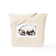 Victorian Pig Tote Bag