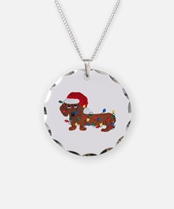 Dachshund (red) Tangled In Necklace