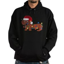 Dachshund (Red) Tangled In Christmas Lights Hoodie