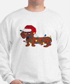 Dachshund (Red) Tangled In Christmas Lights Sweats
