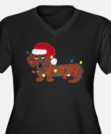 Dachshund (Red) Tangled In Christmas Lights Women'