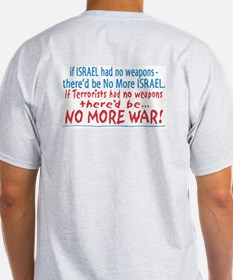 Stand with Israel Pocket Ash Grey T-Shirt