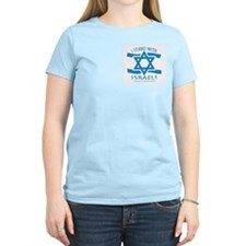Stand with Israel Pocket Women's Pink T-Shirt