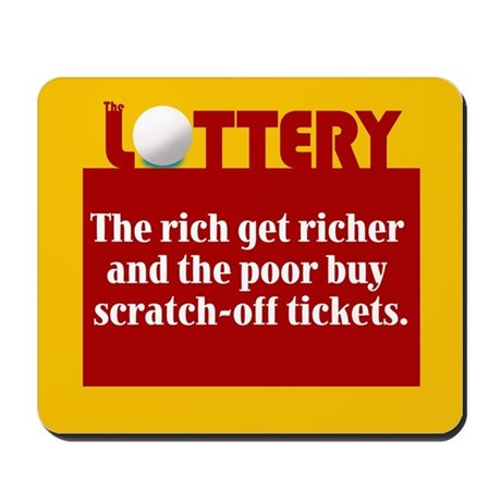 Lottery Scratch off - Mousepad