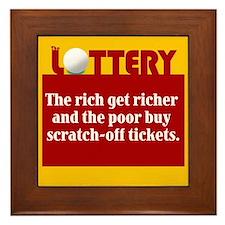 Lottery Scratch off - Framed Tile