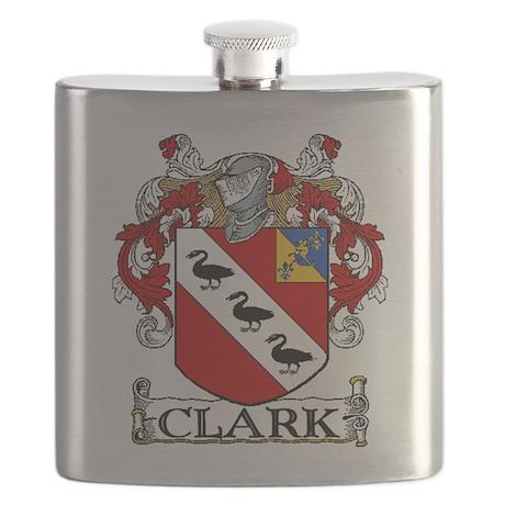 Clark Coat of Arms Flask
