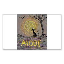halloween black kitty aloof Decal