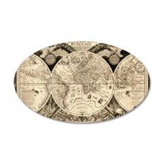 Vintage Old World Map - 1630 Wall Sticker