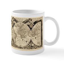 Vintage Old World Map - 1630 Small Mug