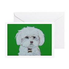 """Maltese Terrier"" Greeting Card"