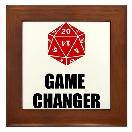 Game Changer Framed Tile