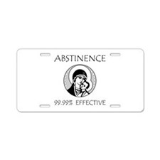 Abstinence Effective Aluminum License Plate