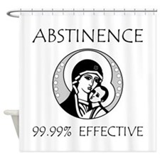 Abstinence Effective Shower Curtain