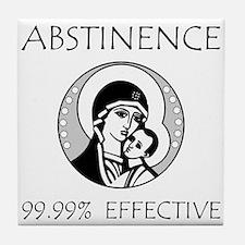 Abstinence Effective Tile Coaster