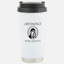 Abstinence Effective Stainless Steel Travel Mug