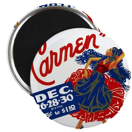 Vintage Carmen Opera Magnet