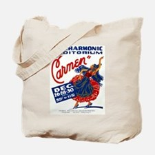 Vintage Carmen Opera Tote Bag