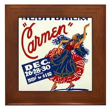 Vintage Carmen Opera Framed Tile